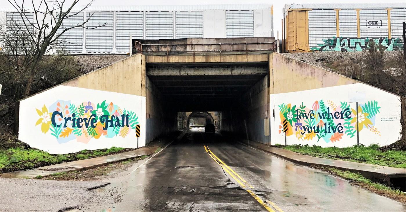 Crieve Hall Mural street art Nashville