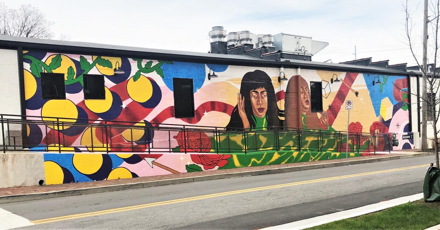Pandora mural Nashville street art