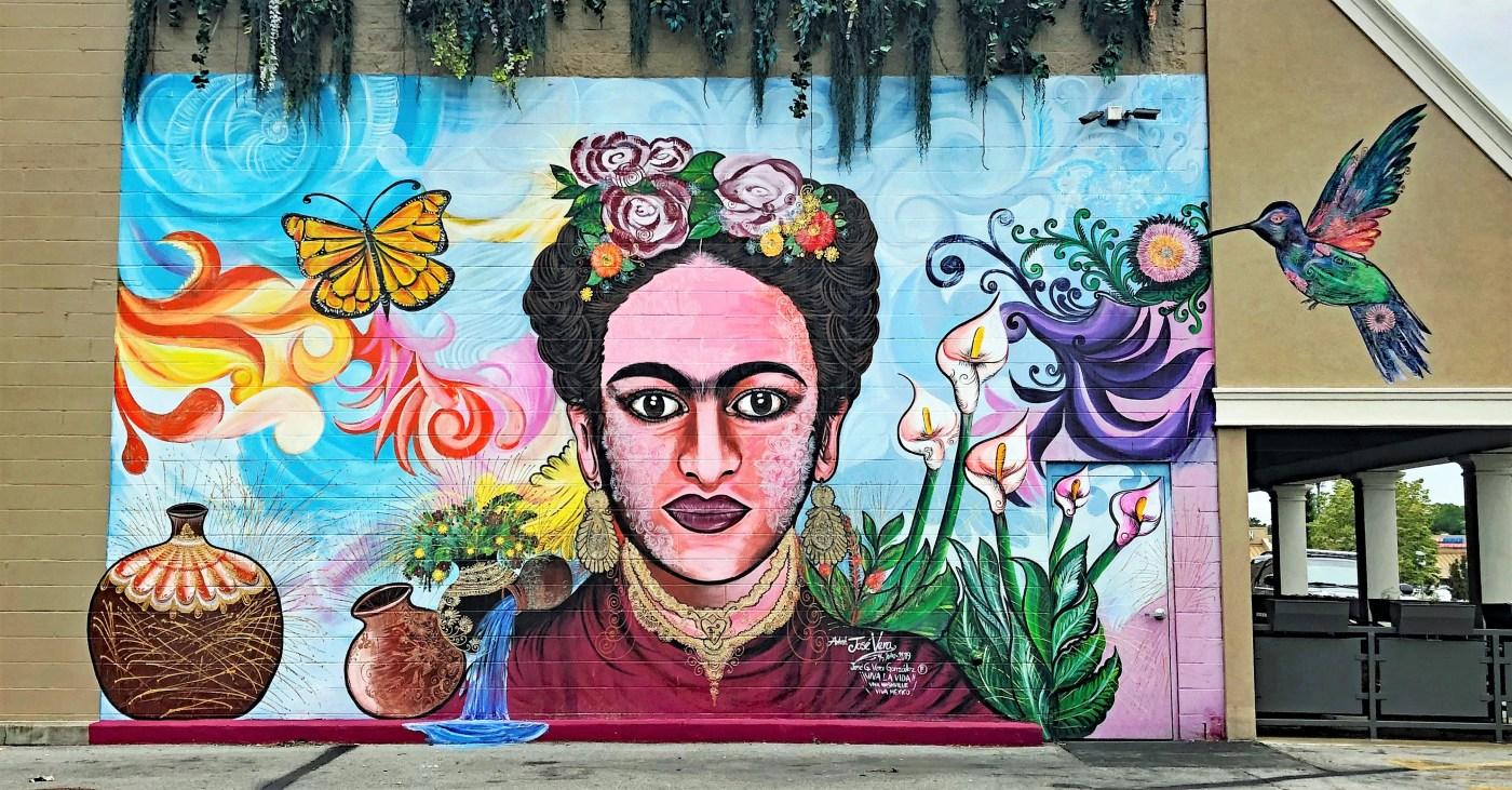 Frida Kahlo Mural Nashville street art