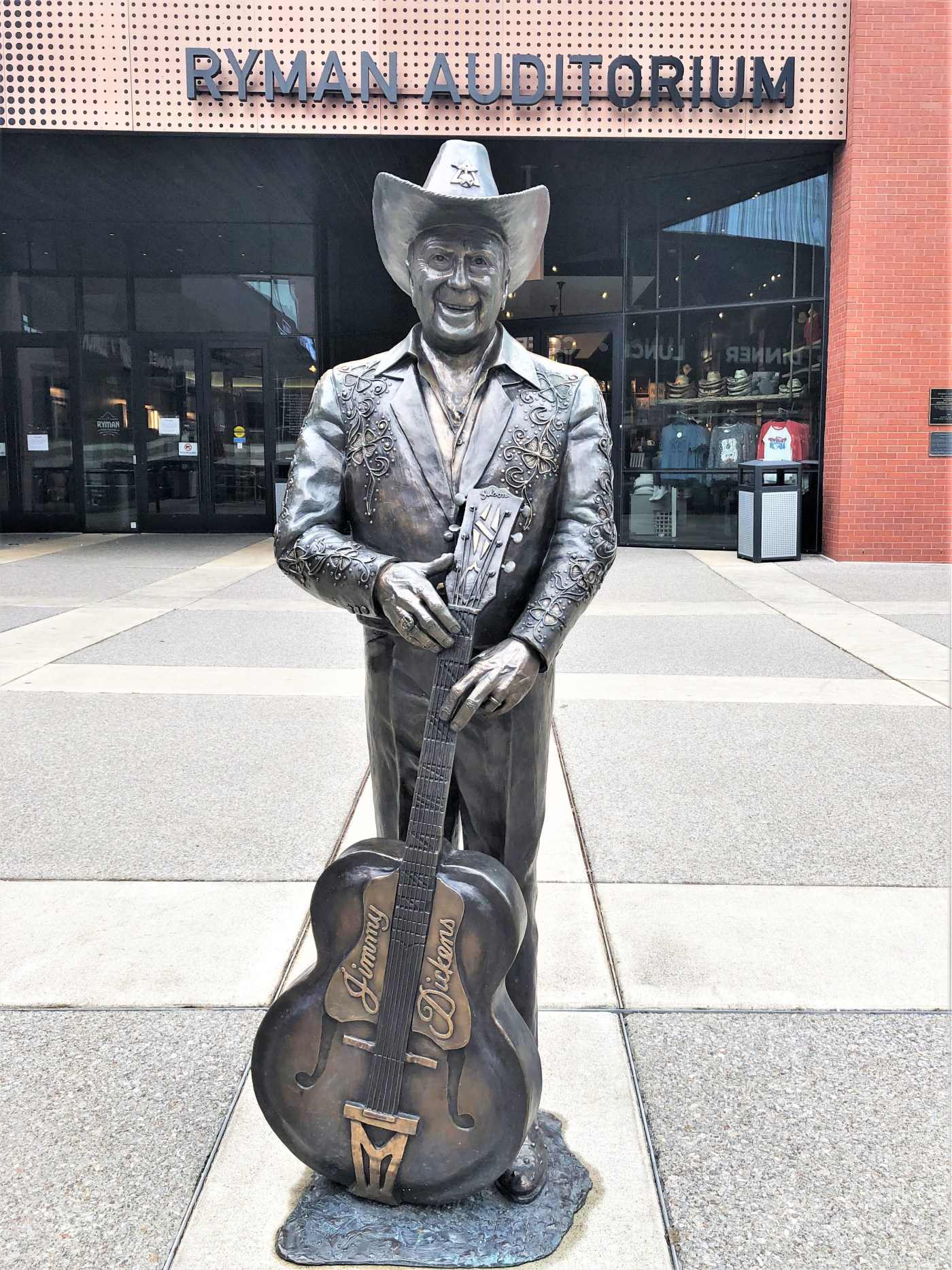 Dickens Sculpture Ryman Nashville street art
