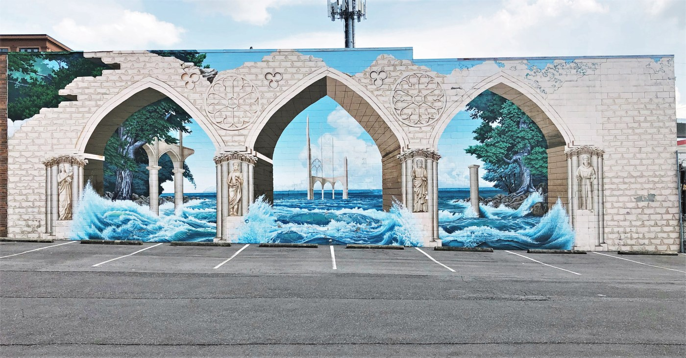 Anchor Flood Mural Nashville street art