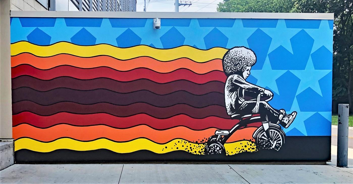 Tricycle Kid mural Nashville street art