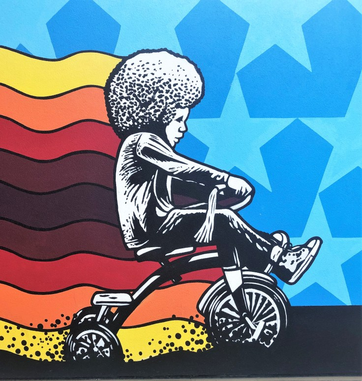 Tricycle Kid mural Nashville street art