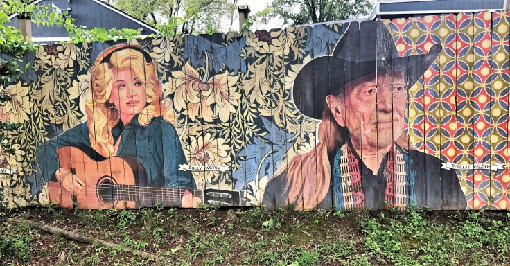 Berry Hill faces mural Nashville street art