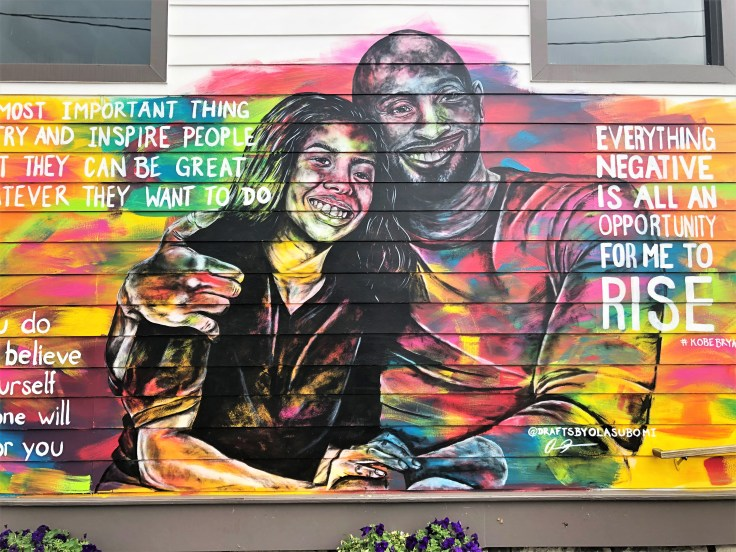 Kobe and Gianna mural Nashville street art