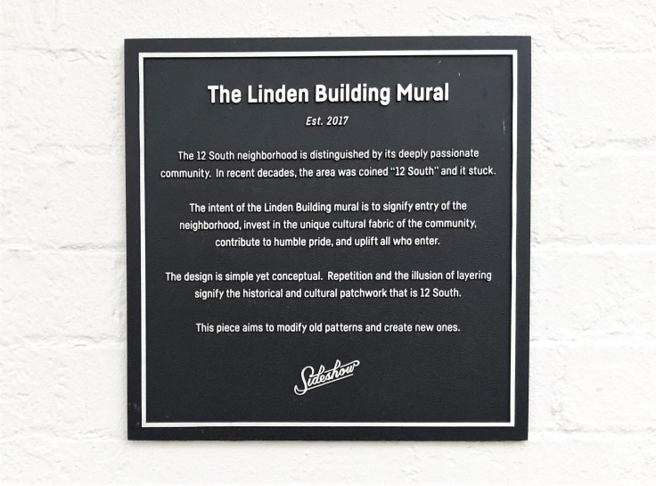 Linden Building Sign Nashville street art