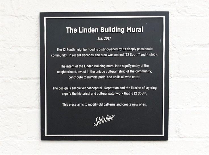 Linden Building Sign Nashville street art