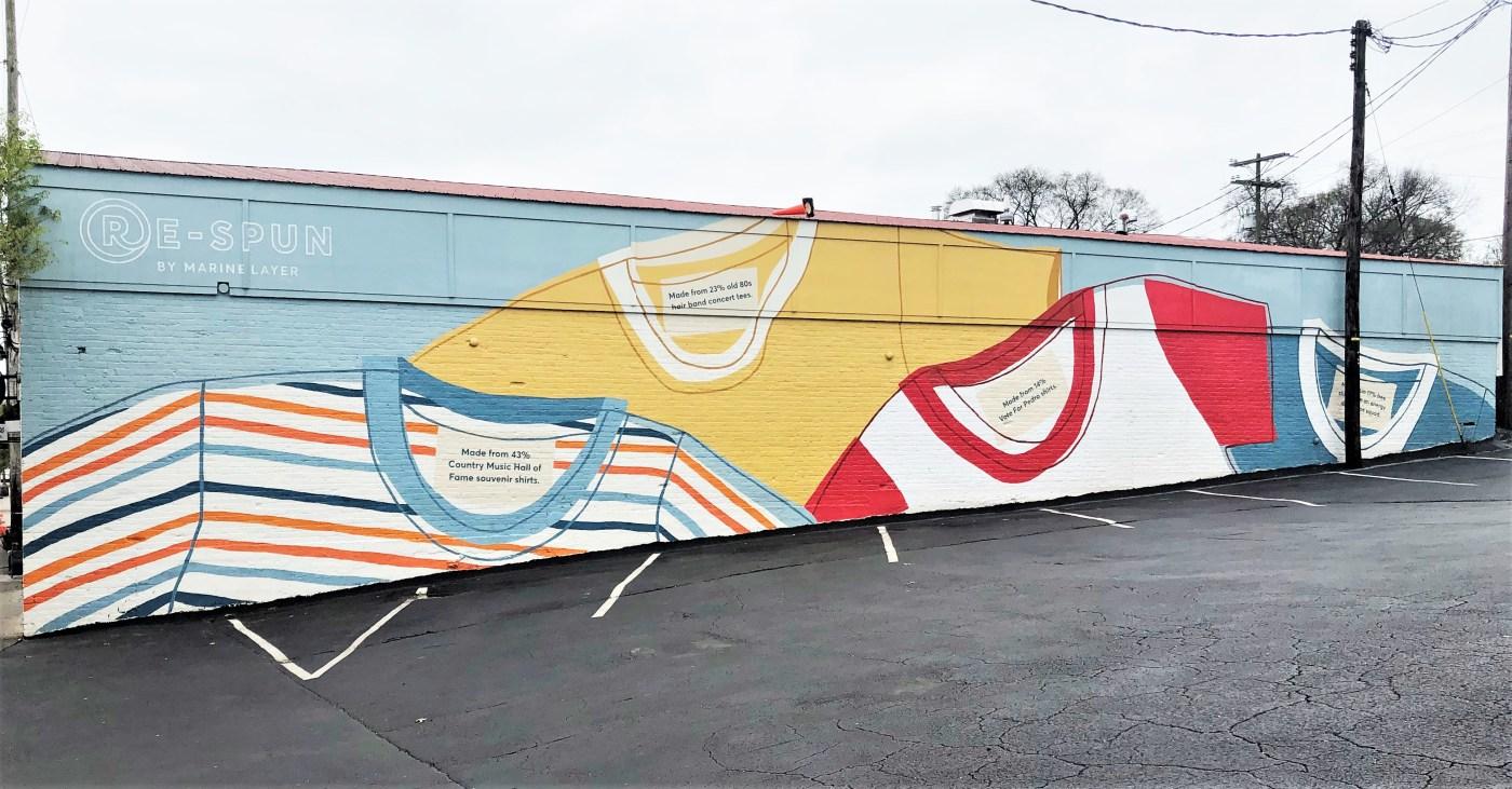 Re-Spun Mural Nashville street art