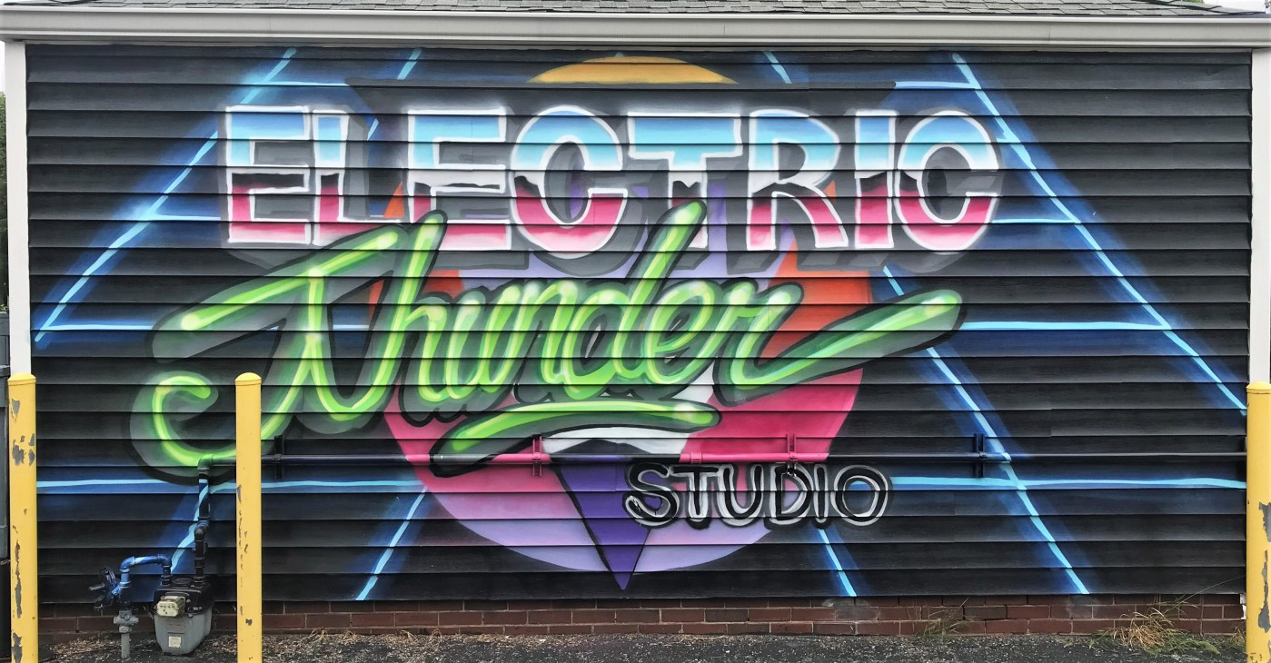 Electric Thunder mural Nashville Street art
