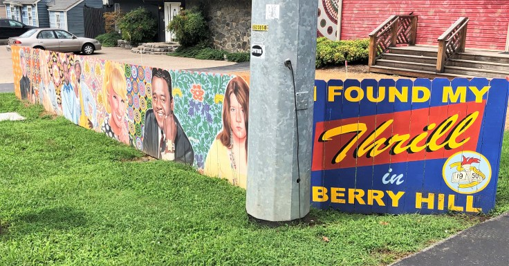 Berry Hill Sign Nashville street art