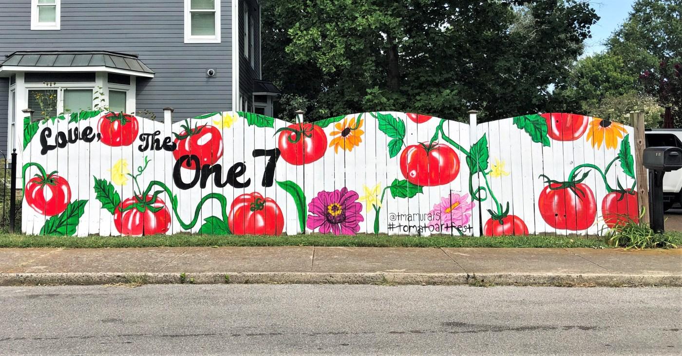 Tomato Fest Mural Nashville street art
