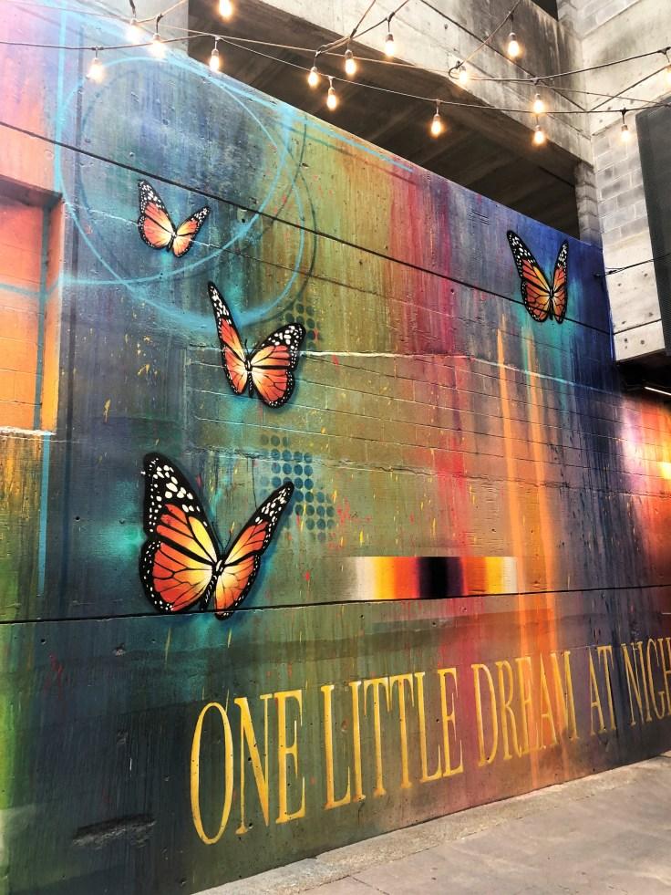 Alley butterflies mural Nashville Street art