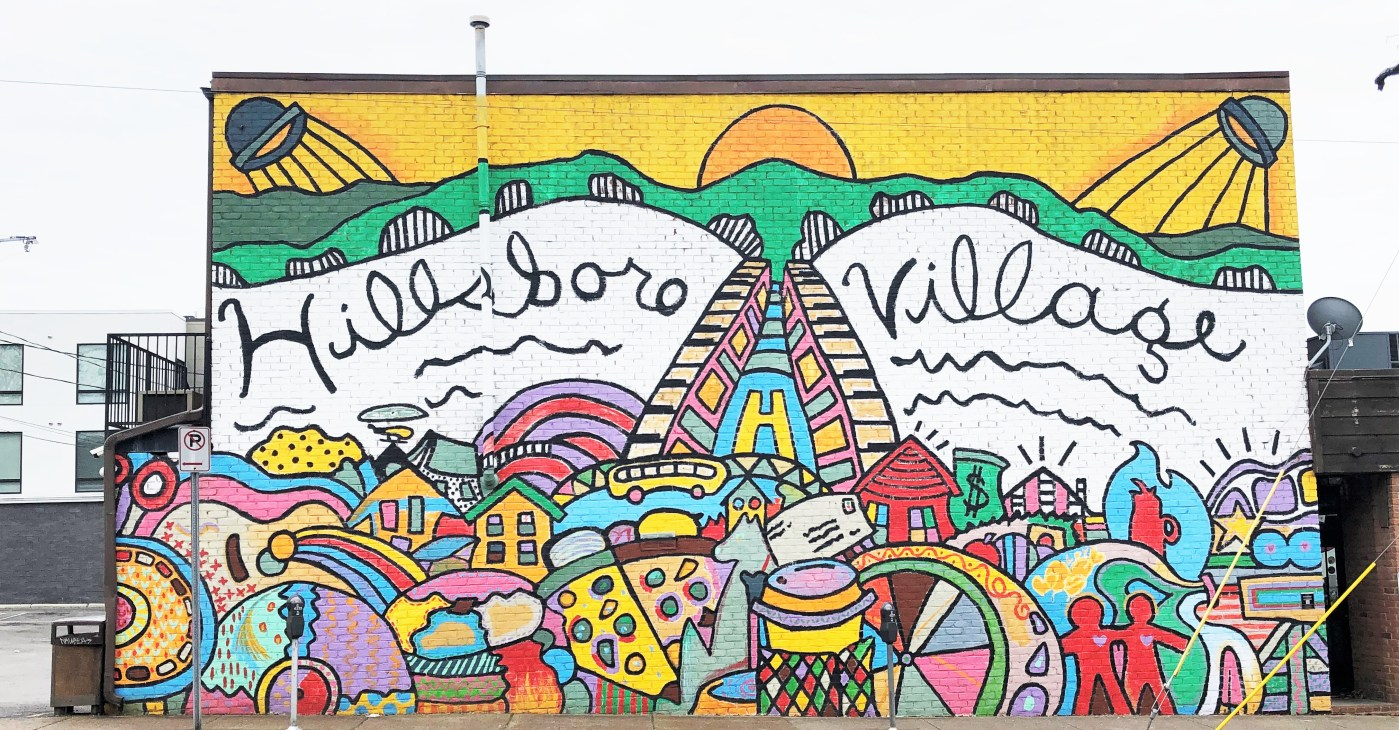 Hillsboro Village Mural Nashville street art
