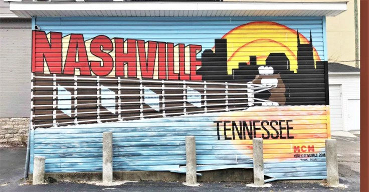 Welcome Mural Nashville street art