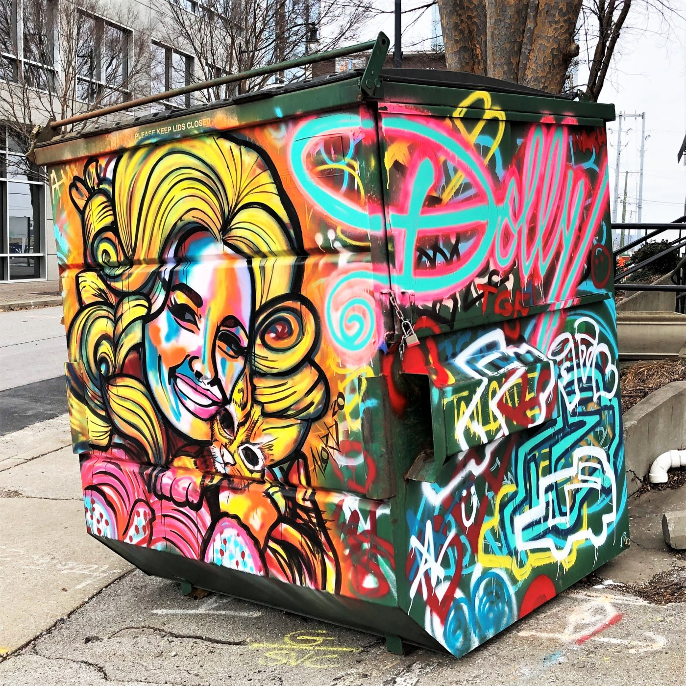 Dolly Parton Mural Nashville street art