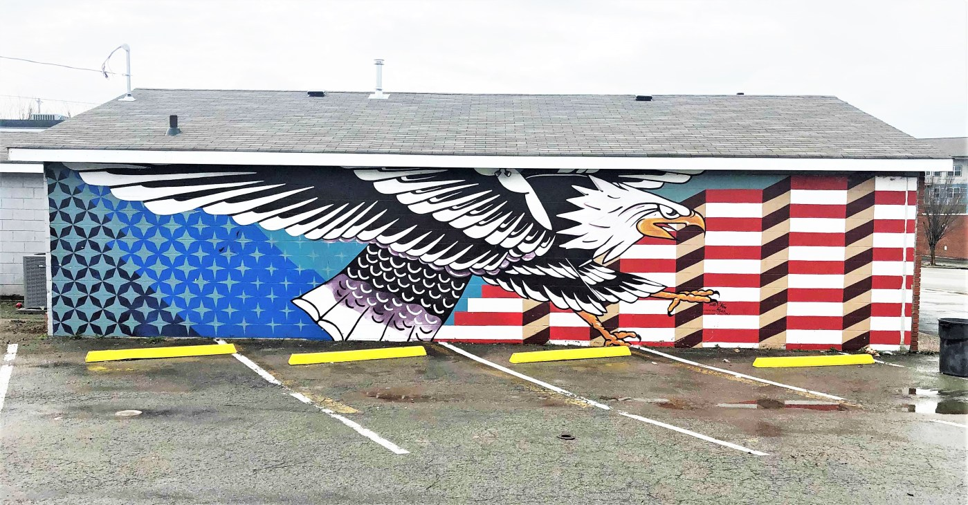 Elite Eagle Mural Nashville street art