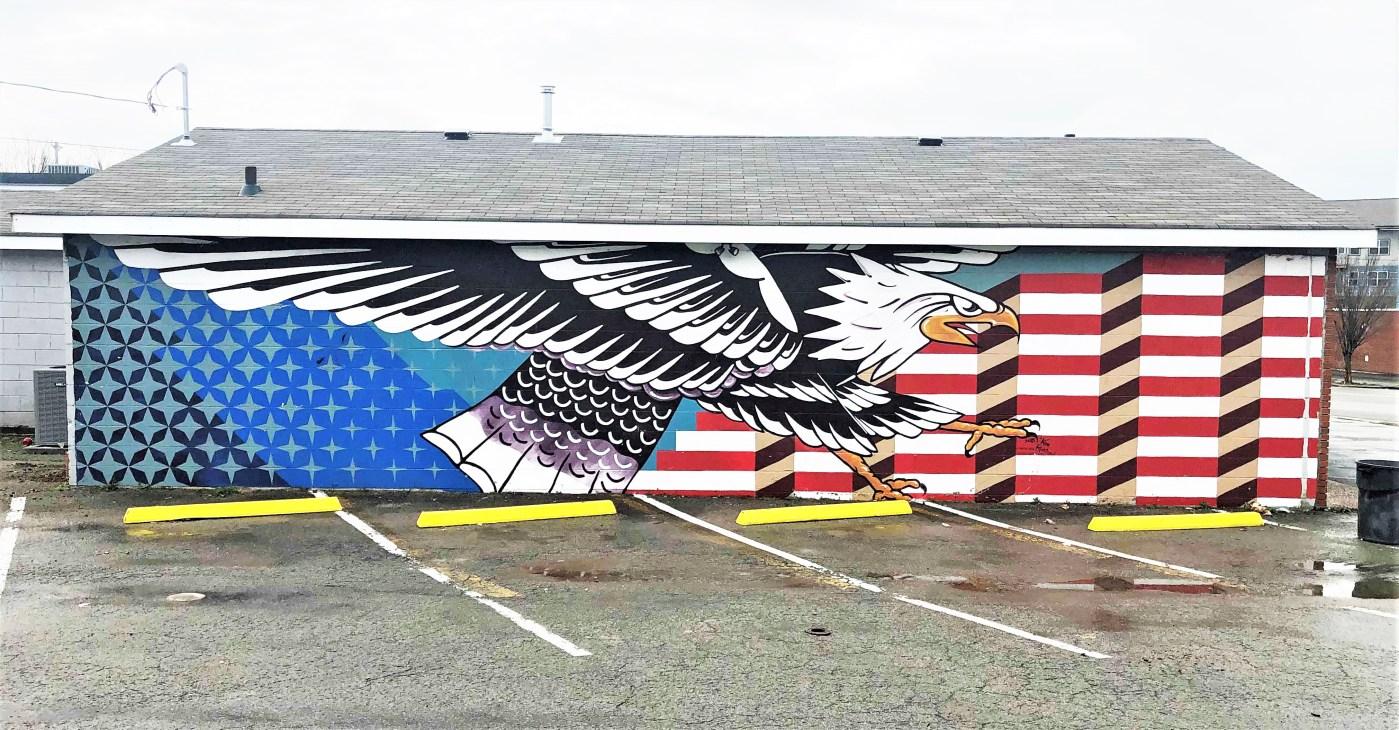 Elite Eagle Mural Nashville street art