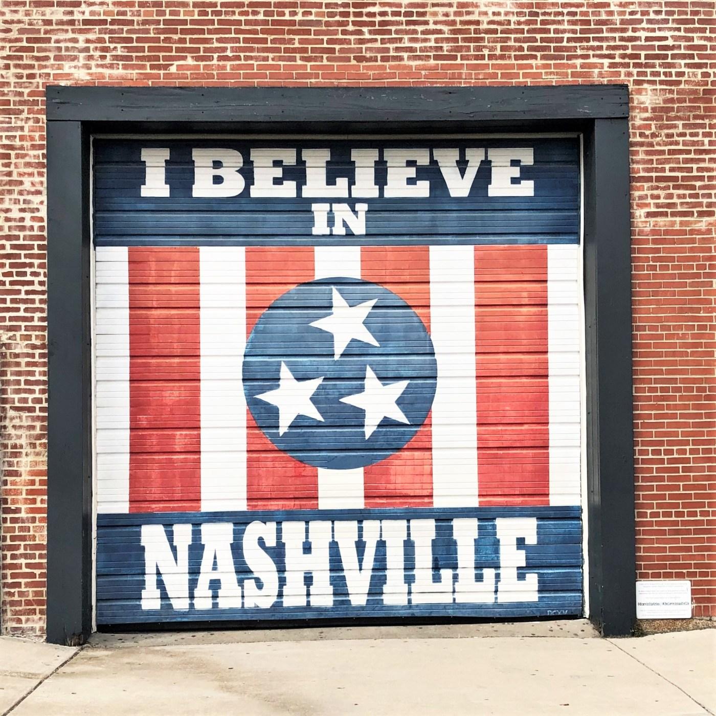 Marathon Believe mural Nashville street art