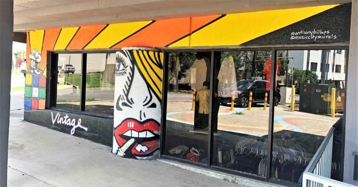 Vintage mural Nashville street art