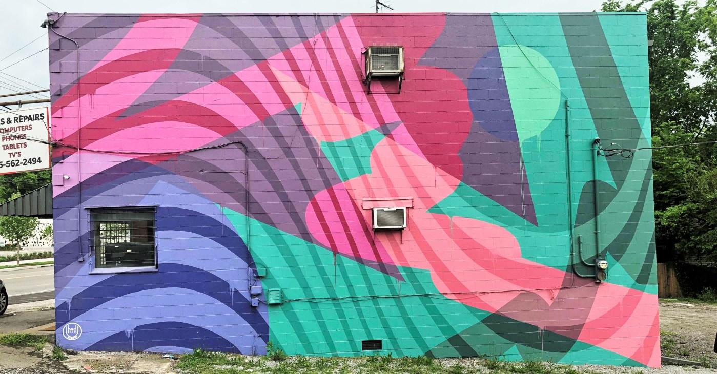 Colors mural Nashville Street art