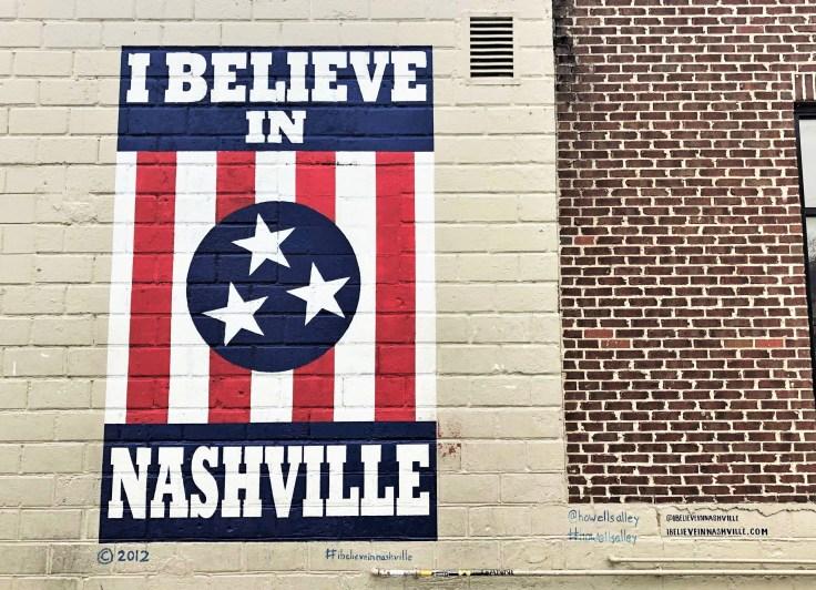 I Believe Nashville mural street art