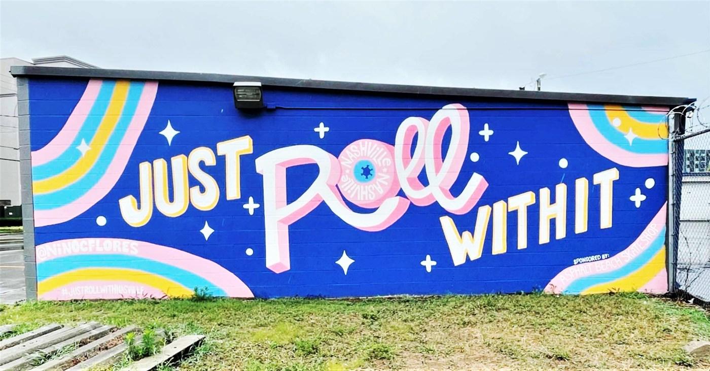 Roll Mural Nashville street art