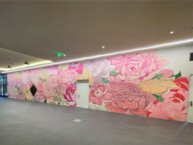 Flowers mural Nashville street art