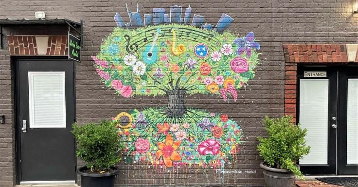 Uban Roots Mural Nashville street art