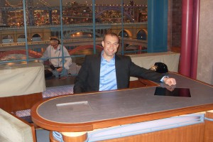 "Keith Alberstadt on set of ""Late Show with David Letterman"""