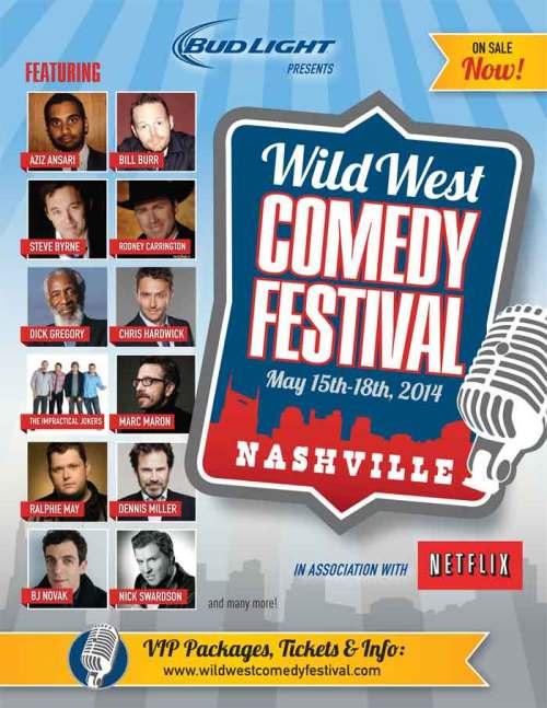 Wild Wild Comedy Festival - Nashville flier