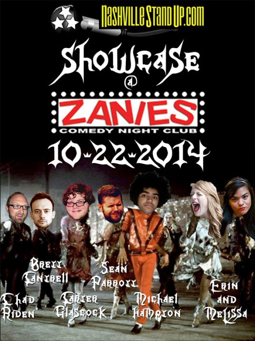 The NSUP Showcase at Zanies Nashville 10/22/2014