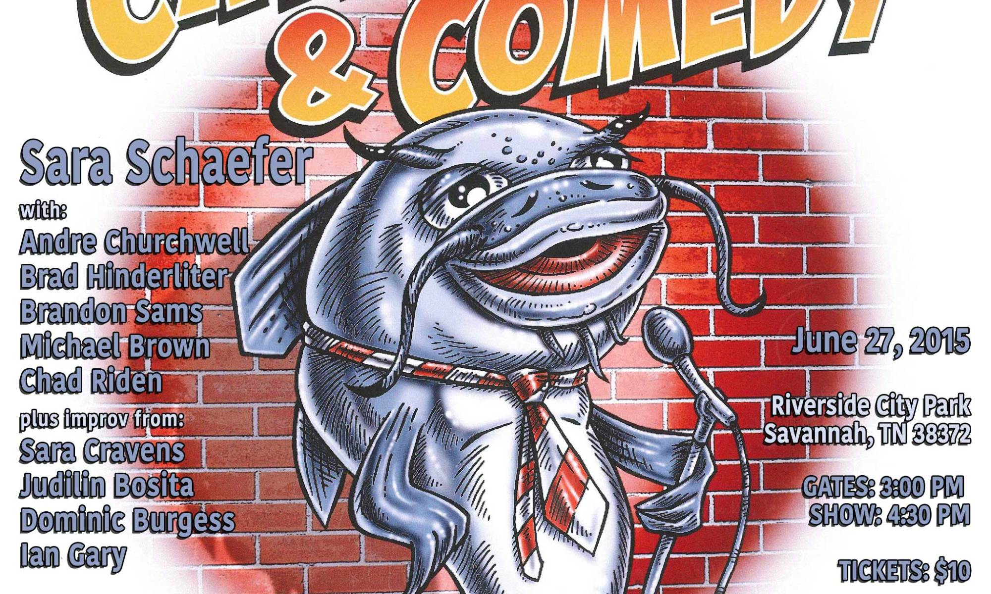 Savannah, TN's Catfish and Comedy Festival 6/27/2015