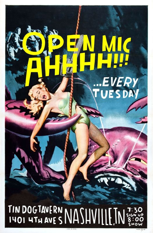AHHHH!!! Open mic at Tin Dog Tavern every Tuesday