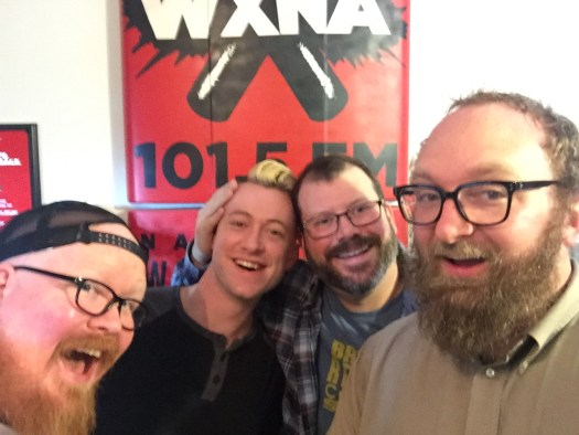 "Rob ""Hotsauce"" Haynes, Alex Poloskey, Brad Edwards, Chad Riden at WXNA 12/7/2016"