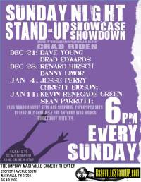 Sunday Stand-up Showcase Showdown And Stuff