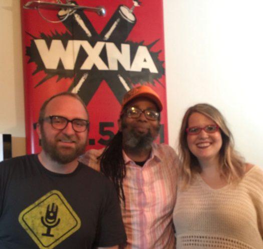 Chad Riden, Ngaio Bealum, Mary Jay Berger at WXNA 8/31/2016