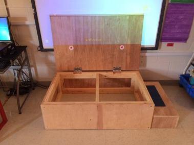 Whiteboard Platform w/ Storage