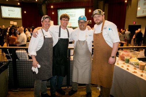 Guest Chefs Alex Harrell, Brian Landry, Aaron Burgau and Nathan Duensing