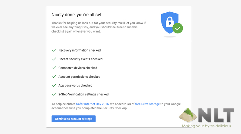 Get free 2GB Google Drive storage in conjunction of Safer Internet Day!