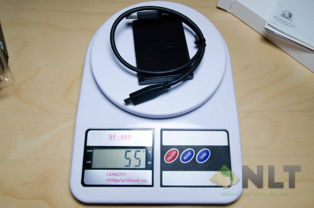 Transcend ESD220C weight with cable