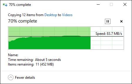 Transcend StoreJet Cloud 110K writing speed