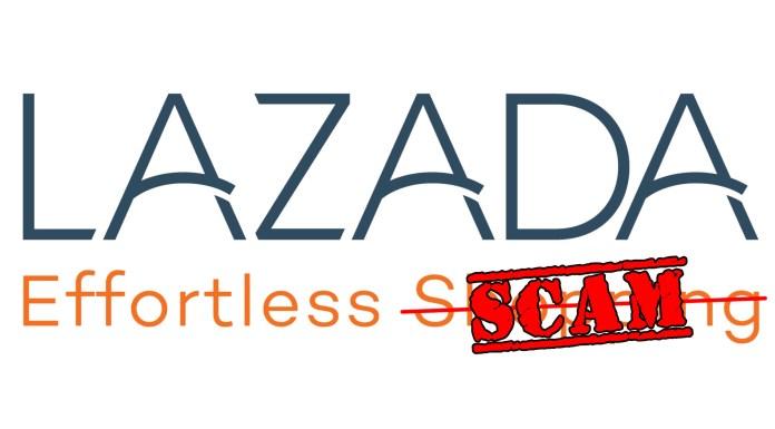 Lazada Scam header
