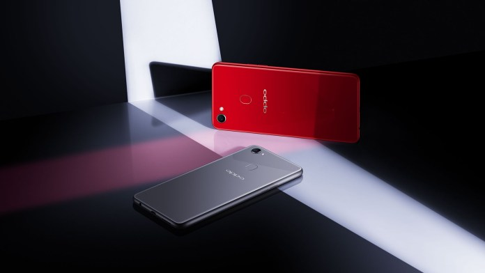 OPPO F7 Solar Red Moonlight Silver