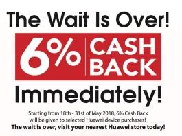 Huawei 6% cashback