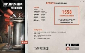 ASUS VivoBook A510U Superposition benchmark