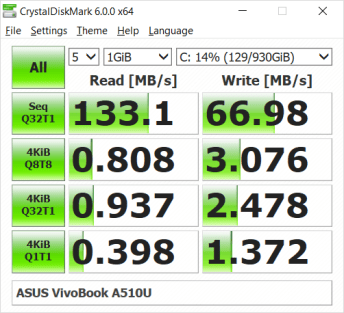 ASUS VivoBook A510U random fill