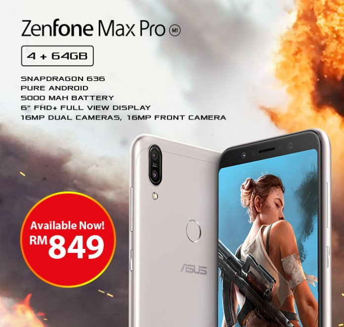 ASUS ZenFone Max Pro (M1) 4GB RAM Variant Now Available