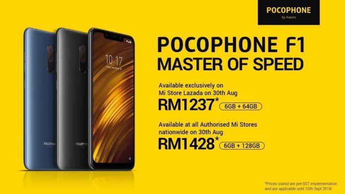Xiaomi Pocophone F1 Malaysia Price