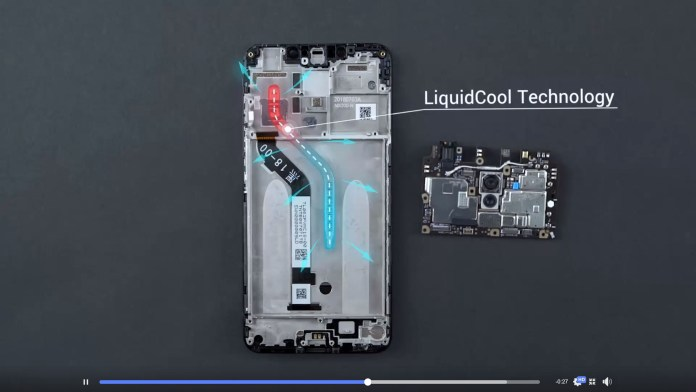 Pocophone F1 teardown LiquidCool