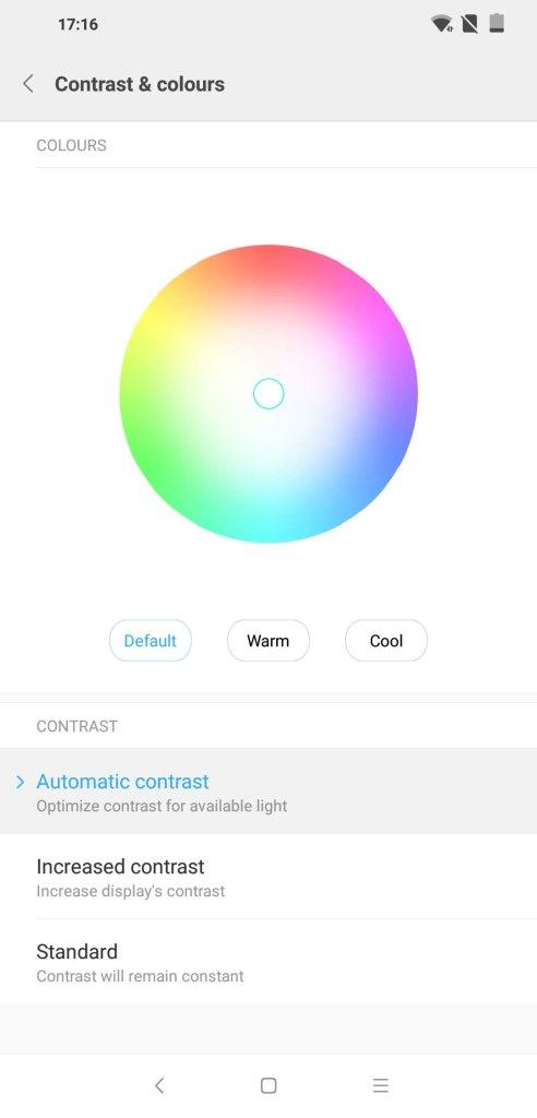 Xiaomi Pocophone F1 display settings
